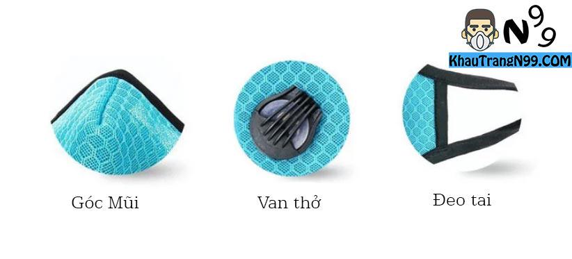 khẩu trang vải lưới chất lượng tốt