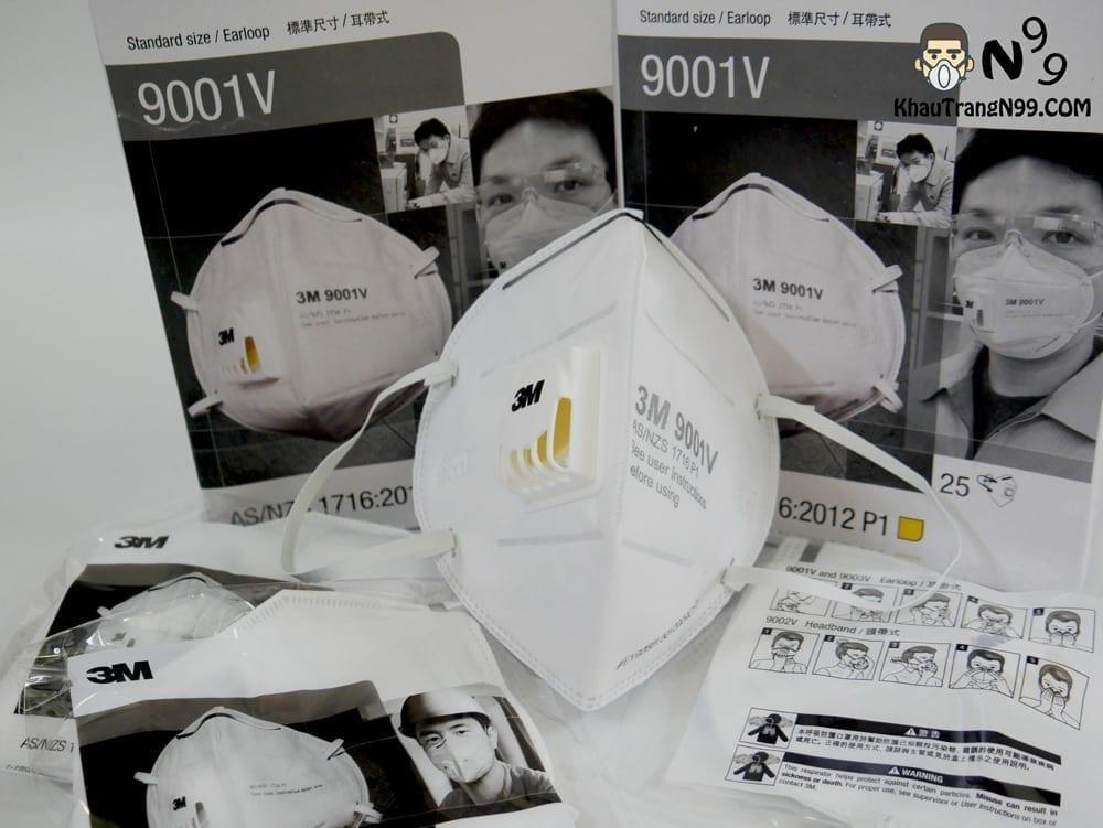 khẩu trang 3m 9001v túi đựng