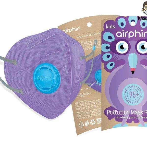 khẩu trang airphin cho bé màu tím violet 1
