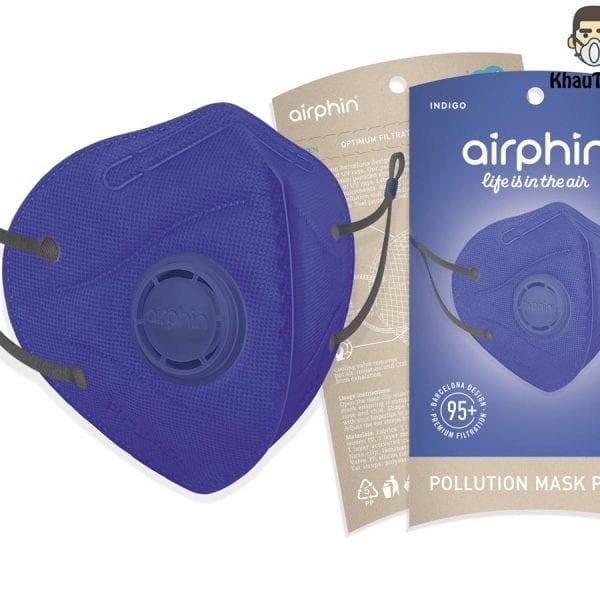 khẩu trang airphin màu chàm indigo 1