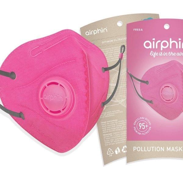 khẩu trang airphine màu hồng 1