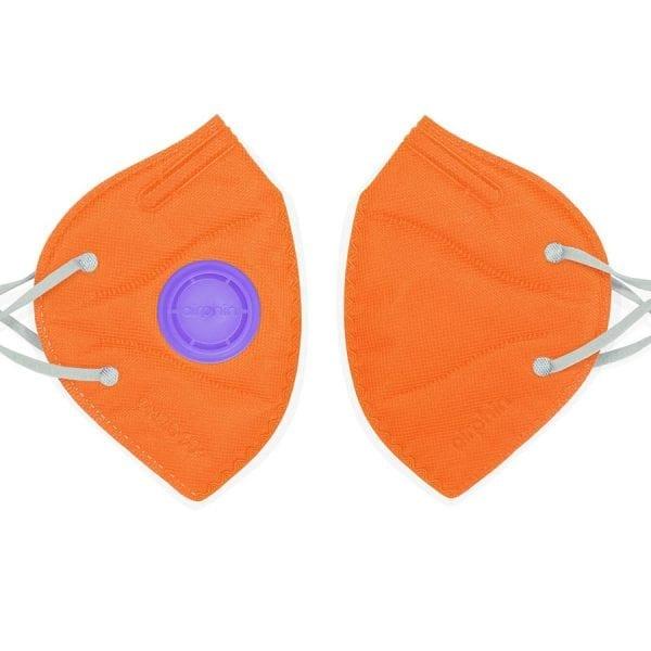 khẩu trang airphine trẻ em màu cam organge 1