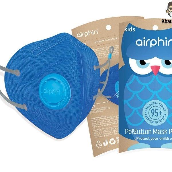 khẩu trang airphine trẻ em màu xanh blue 1