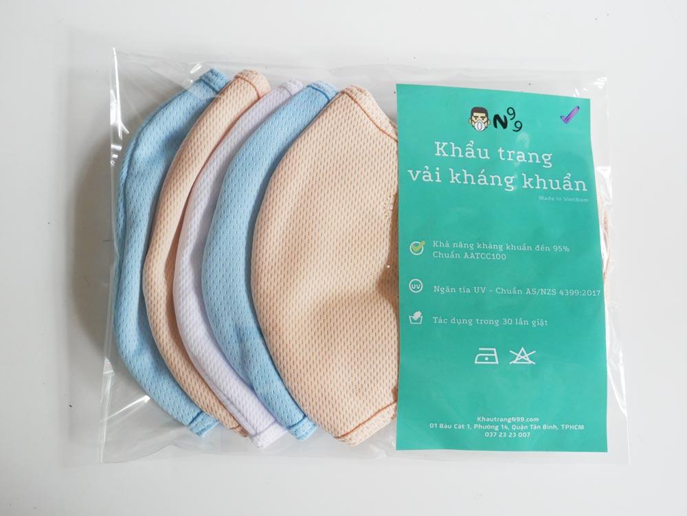 khẩu trang vải kháng khuẩn shibi