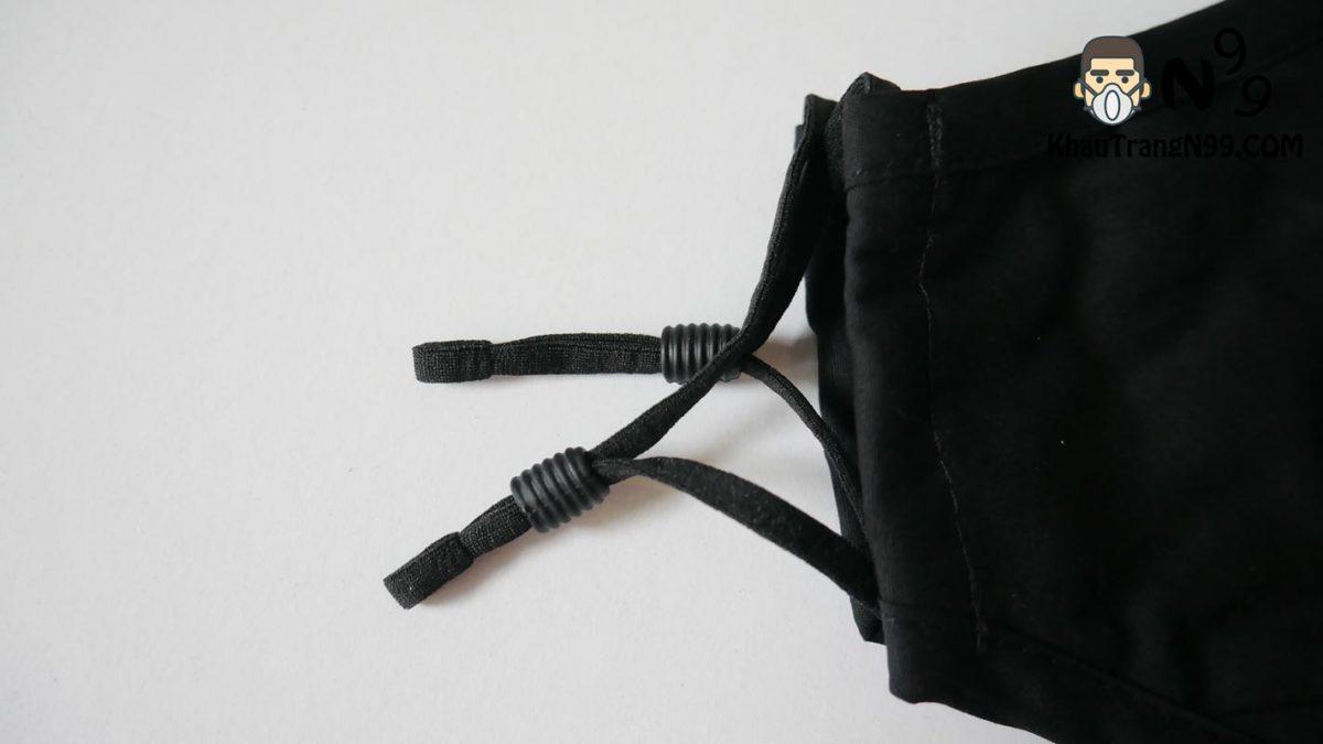 Khẩu trang chống bụi Air Pollution Mask - Black dây đeo