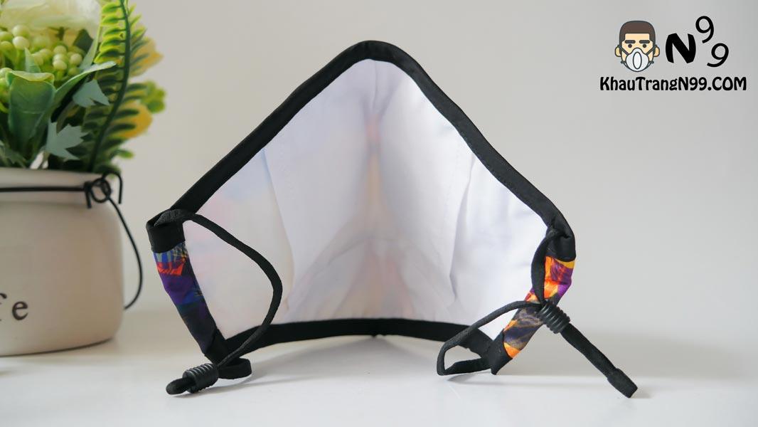 khẩu trang chống bụi air pollution mask Summer - Khẩu trang N99 back
