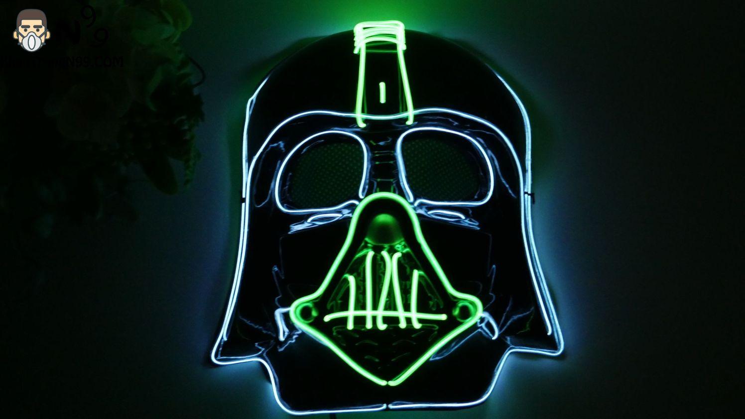 Mặt nạ Halloween đèn led - người lính (6)