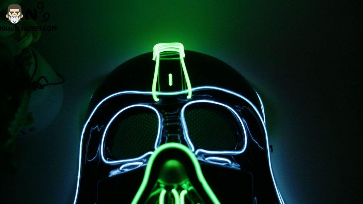 Mặt nạ Halloween đèn led - người lính (8)