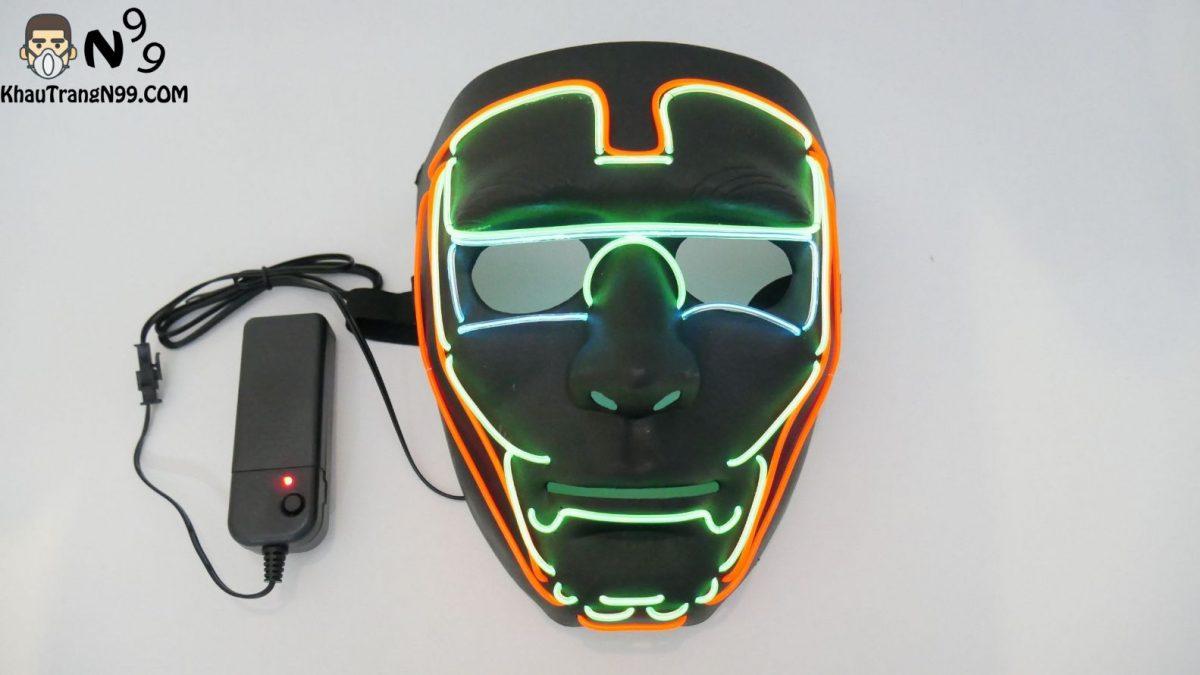Mặt nạ đèn led Halloween - Iron Man