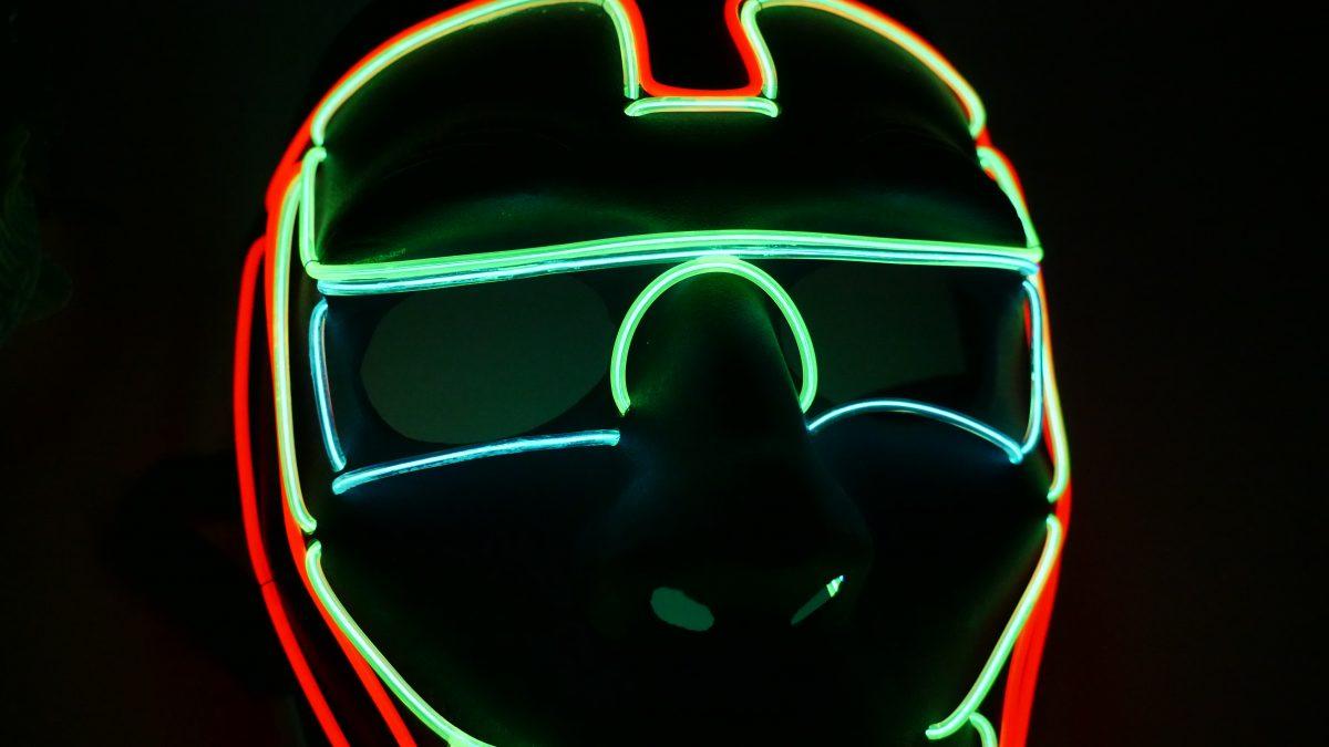 Mặt nạ led dùng cho nhạc Iron Man -