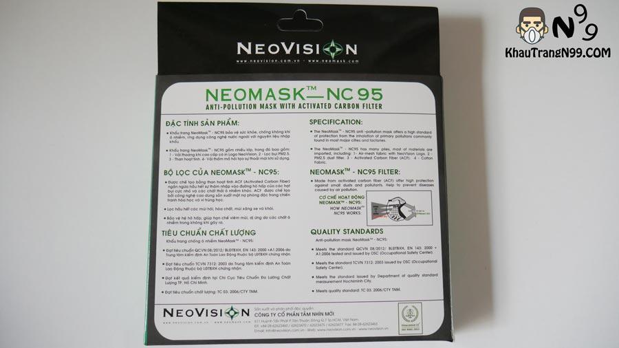 Mặt-sau-hộp-khẩu-trang-than-hoạt-tính-NeoMask-NC95-chống-bụi-mịn-