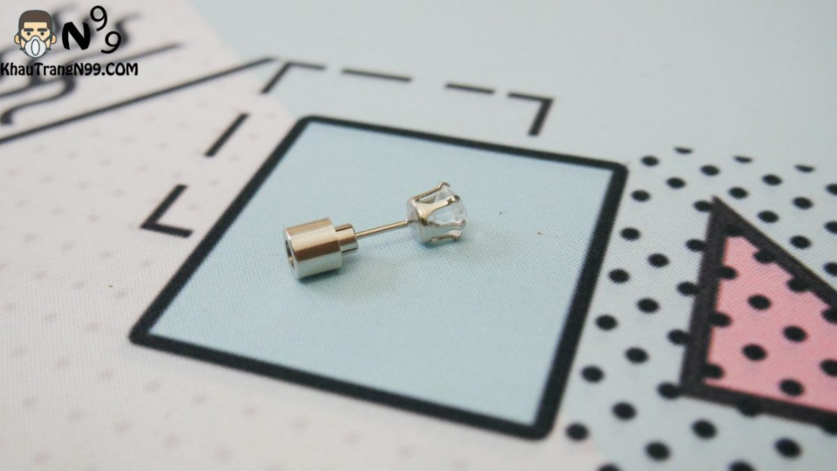 bông tai led dùng pin