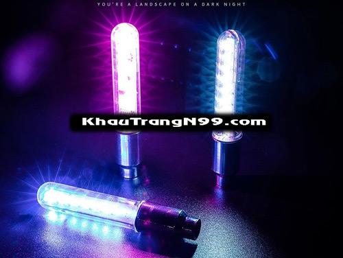 đèn led phát sáng nhiều màu cho xe máy xe đạp