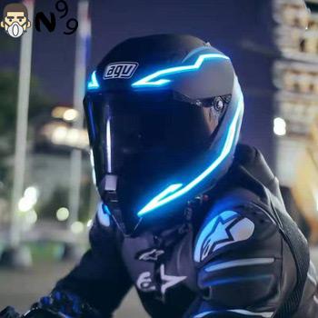 đèn led sáng cho mũ bảo hiểm