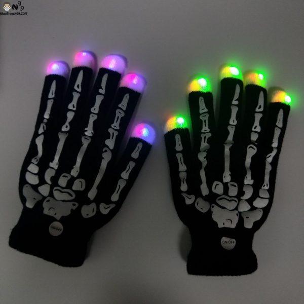 găng tay đèn led phát sáng nhiều màu