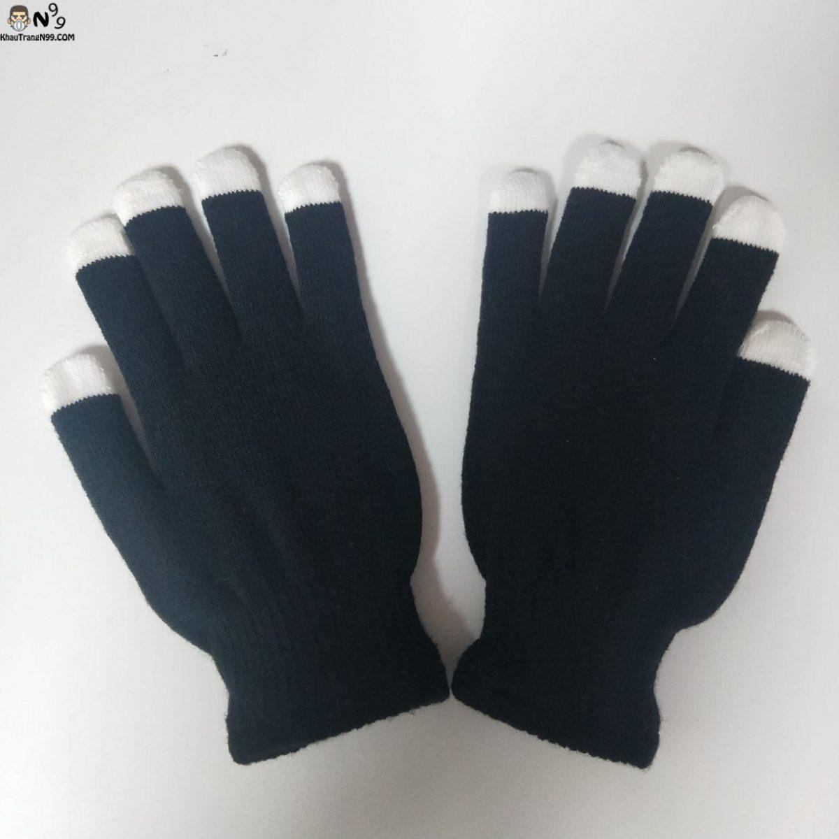 găng tay màu đen phát sáng ban đêm