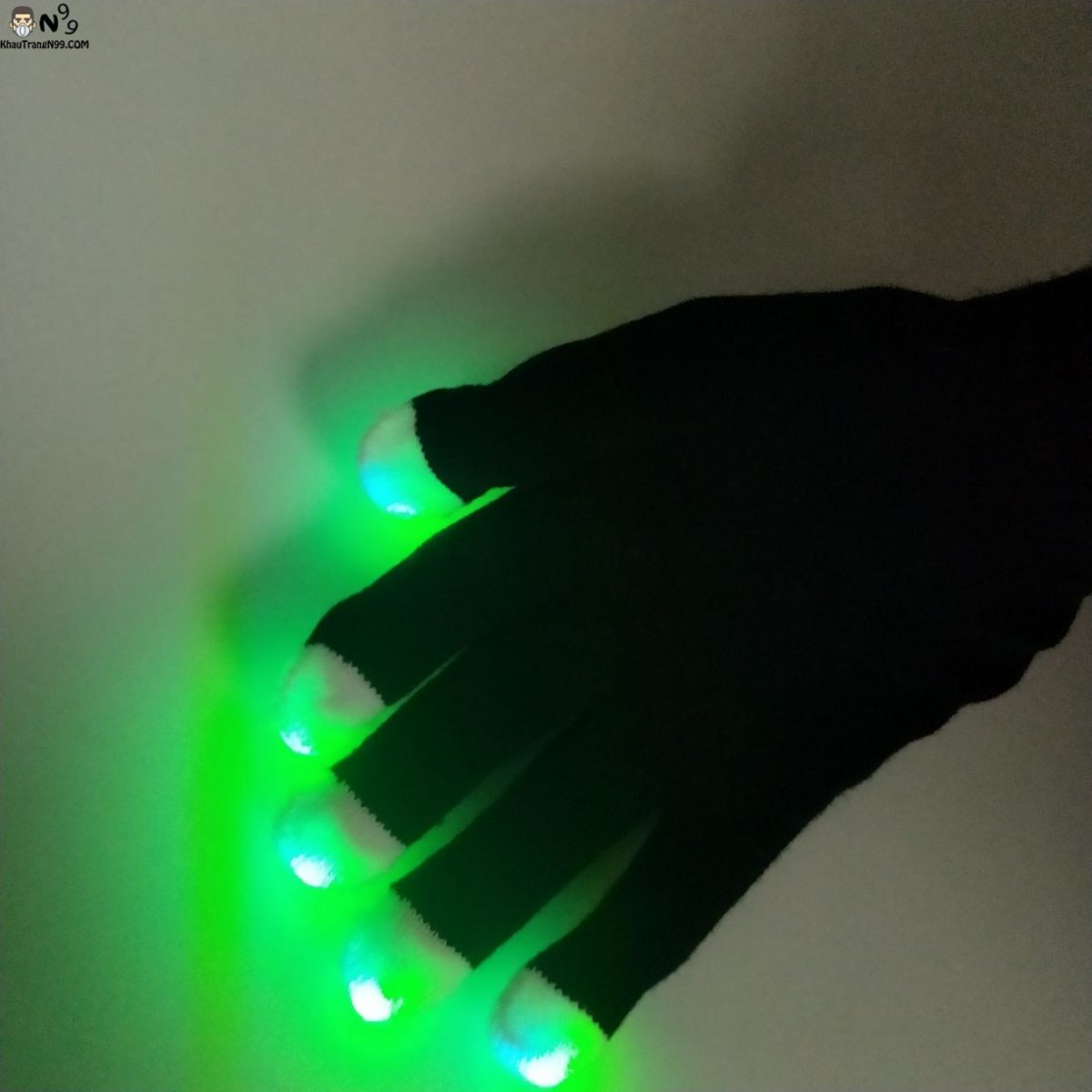 găng tay phát sáng đèn led