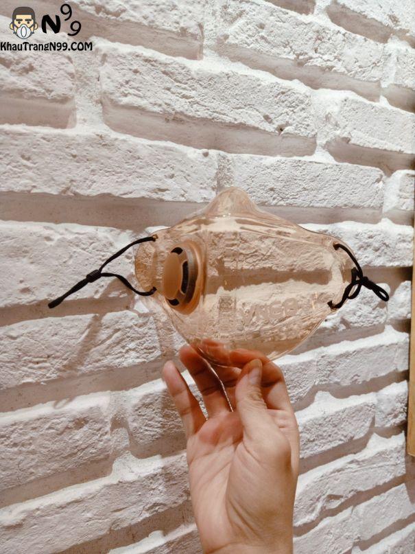 khẩu trang nhựa cam khói