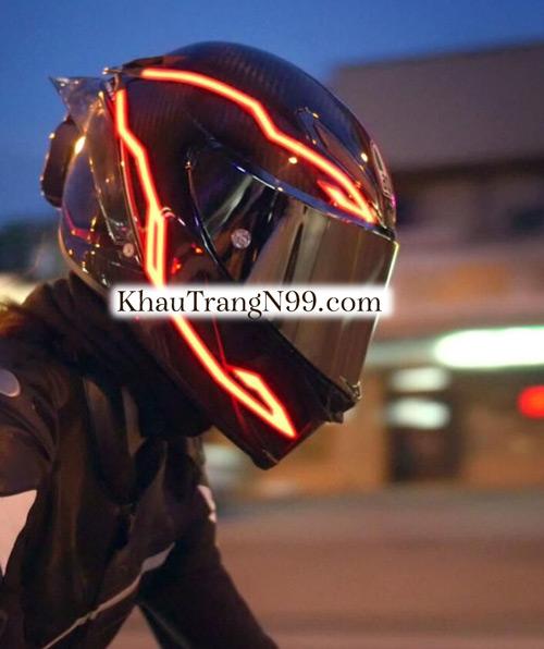 phụ kiện mũ bảo hiểm đèn led sáng ban đêm