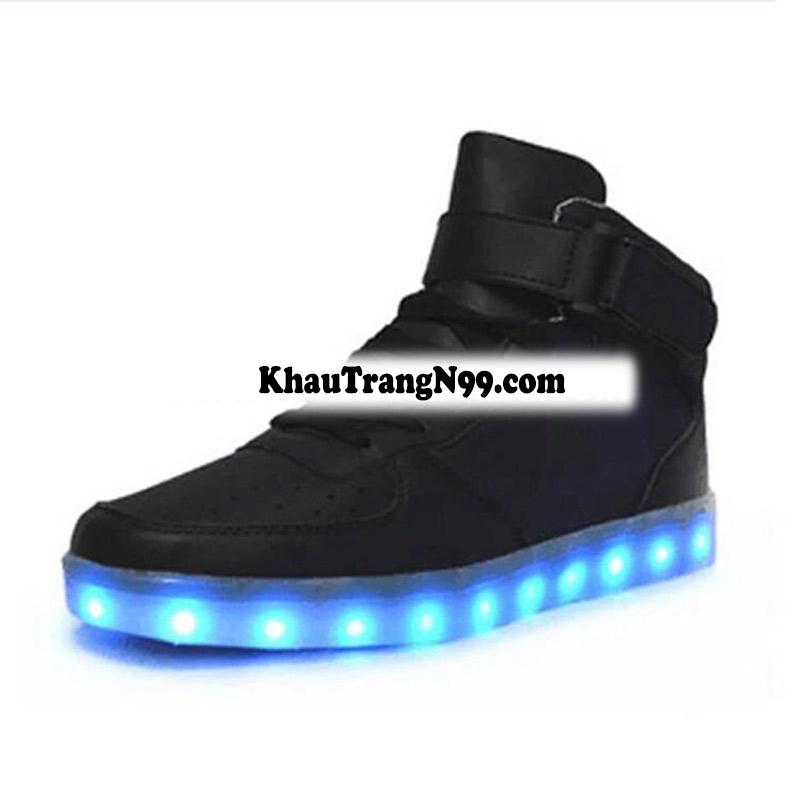 giày phát sáng neon đèn led màu đen