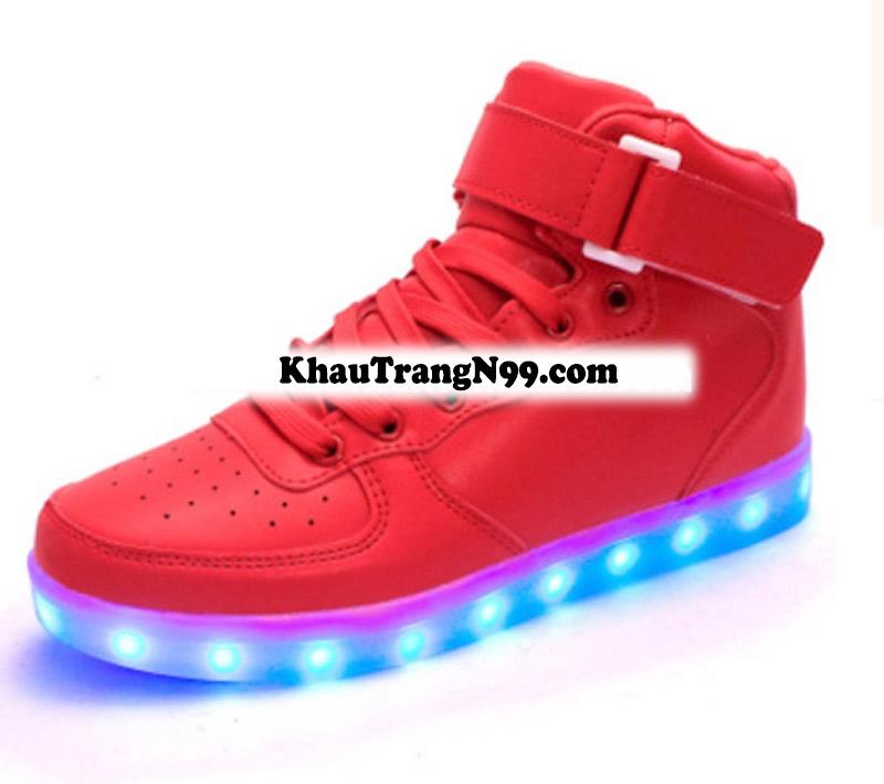 giày phát sáng neon đèn led màu đỏ