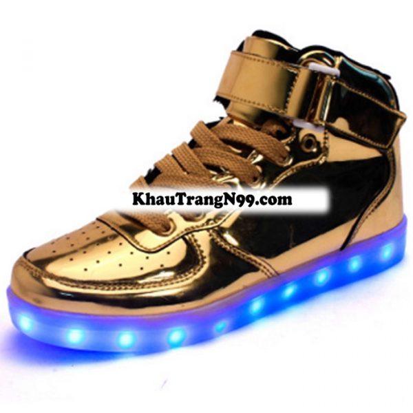 giày phát sáng neon đèn led vàng gold