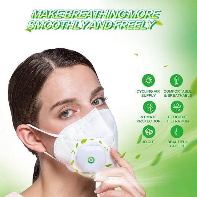 khẩu trang chống bụi lọc khí bằng quạt Fresh Air GF