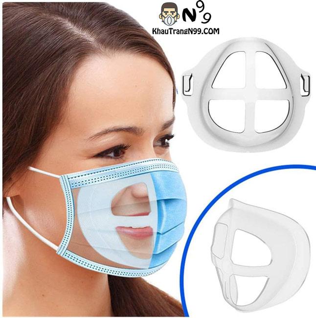 Giá đỡ 3D đeo khẩu trang giúp dễ thở không lem son