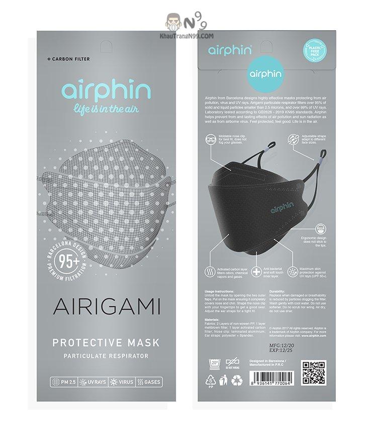 Khẩu trang Airigami Airphin bao bì