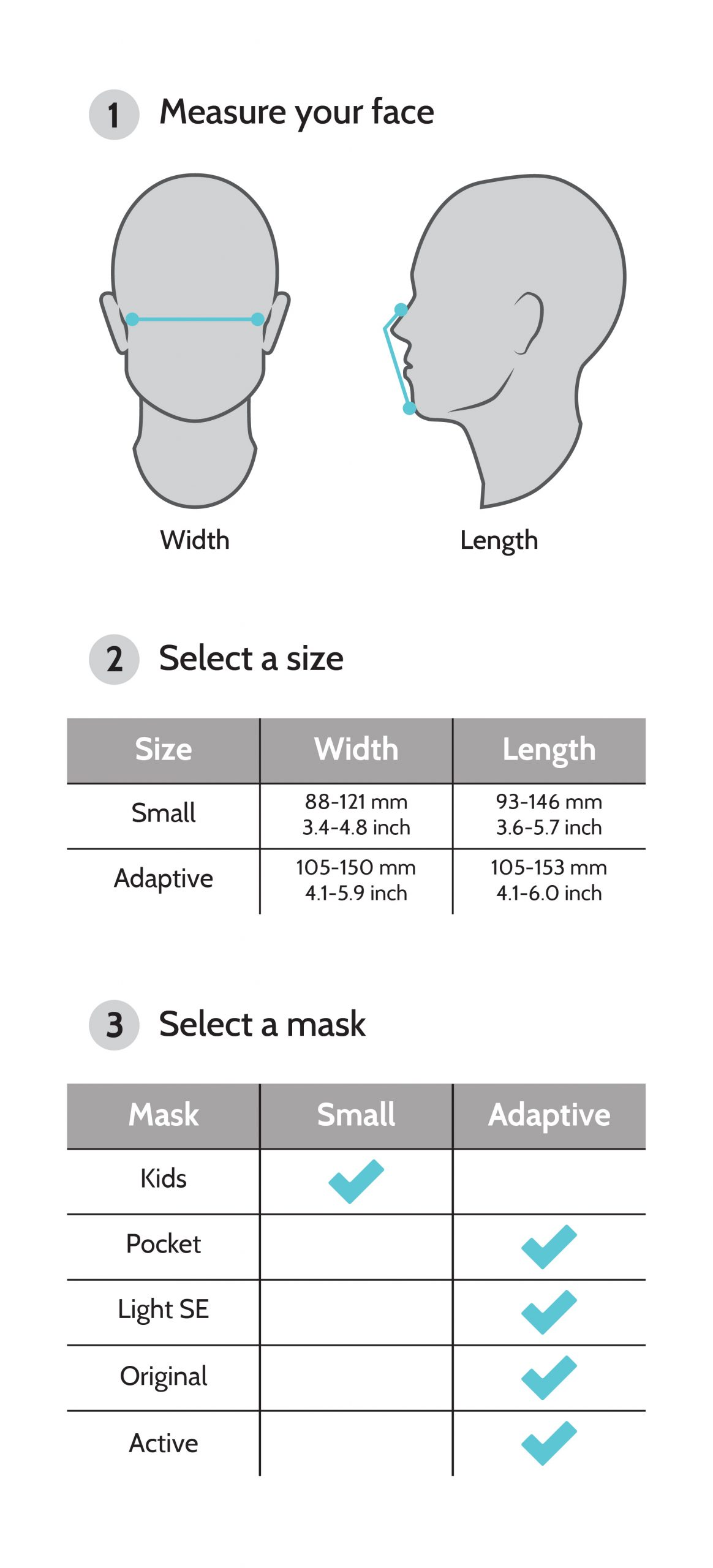 chọn size cho khẩu trang active smart mask