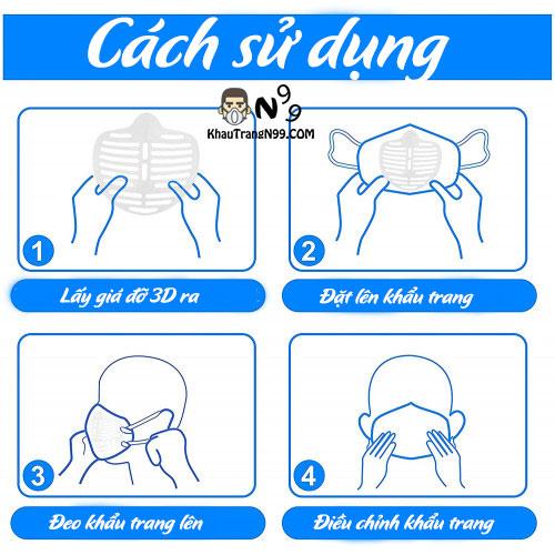hướng dẫn sử dụng giá đỡ đeo khẩu trang