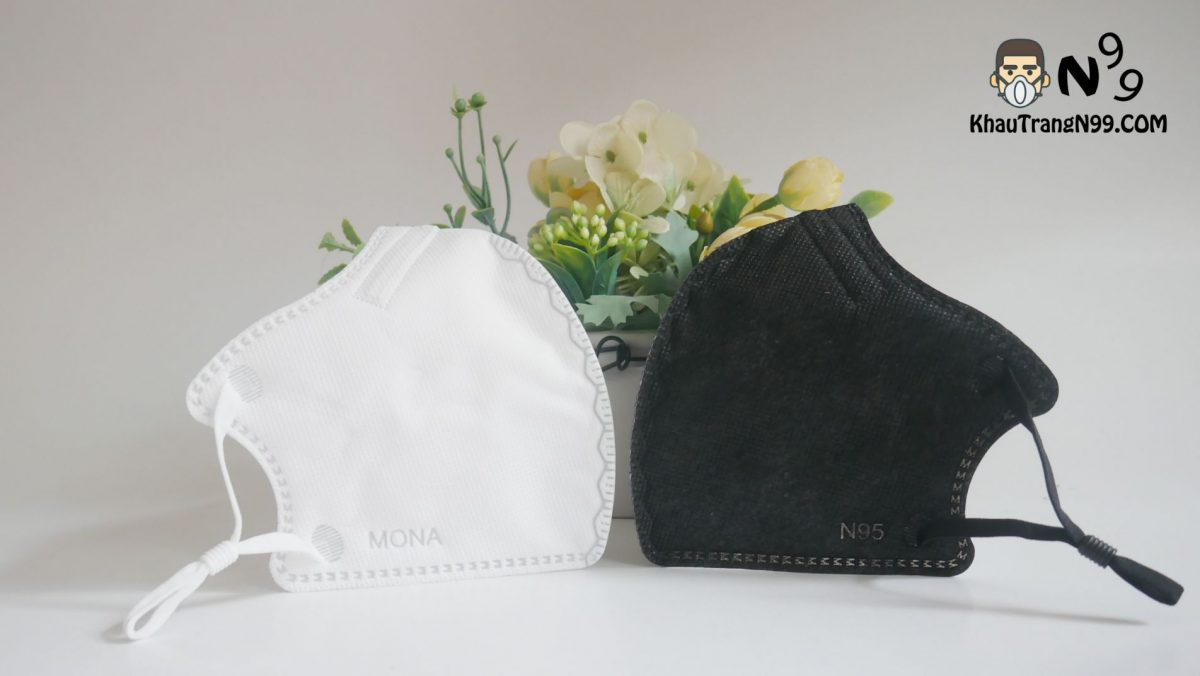 Khẩu trang mona mask màu trắng n95 (2)