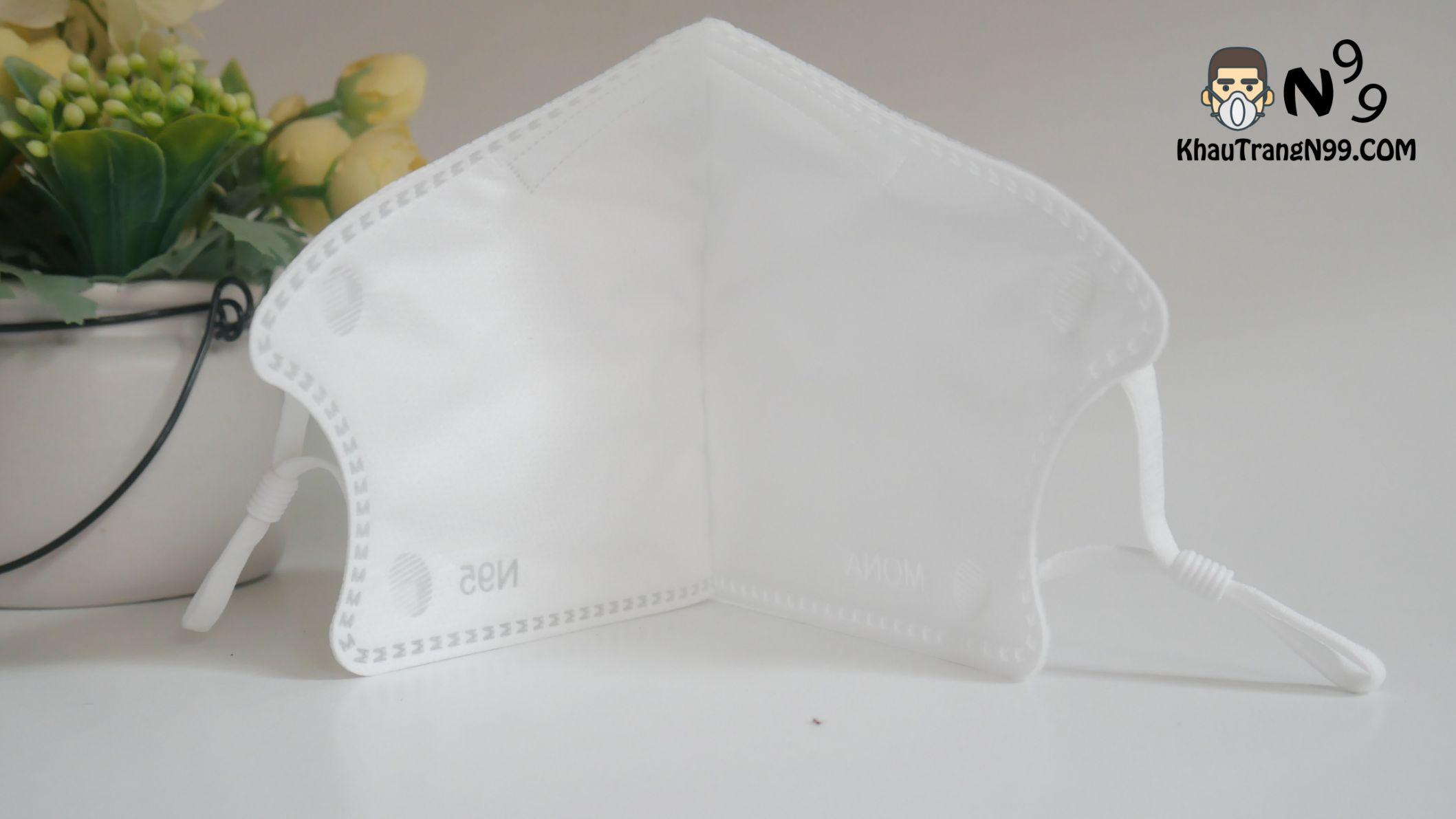 Khẩu trang mona mask màu trắng n95 (5)