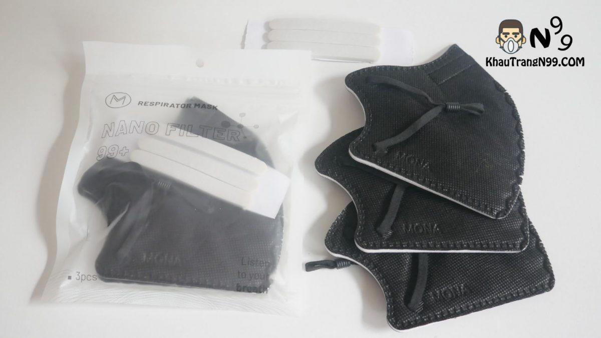 khẩu trang mona mask n95 công nghệ nano màu đen (1)