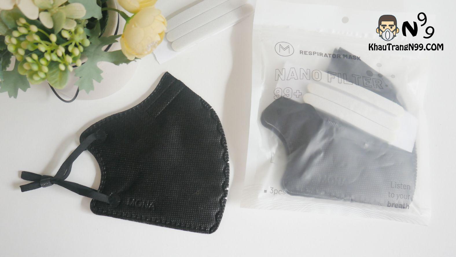 khẩu trang mona mask n95 công nghệ nano màu đen (3)