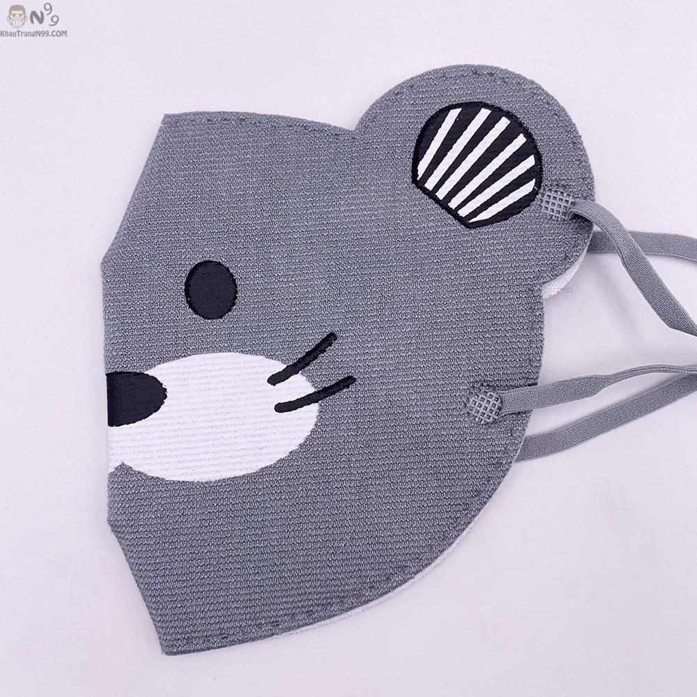 khẩu trang cho bé trên 2 tuổi vải cực xịn, thoáng tai chuột 3d (6)