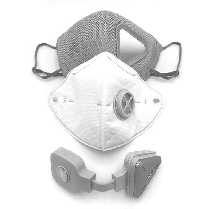 khẩu trang thông minh lọc khí Fuslon màu trắng (2)