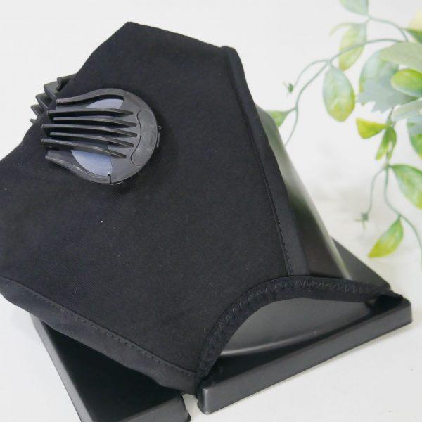 Khẩu trang vải cao cấp 2 van thở - Black (1)