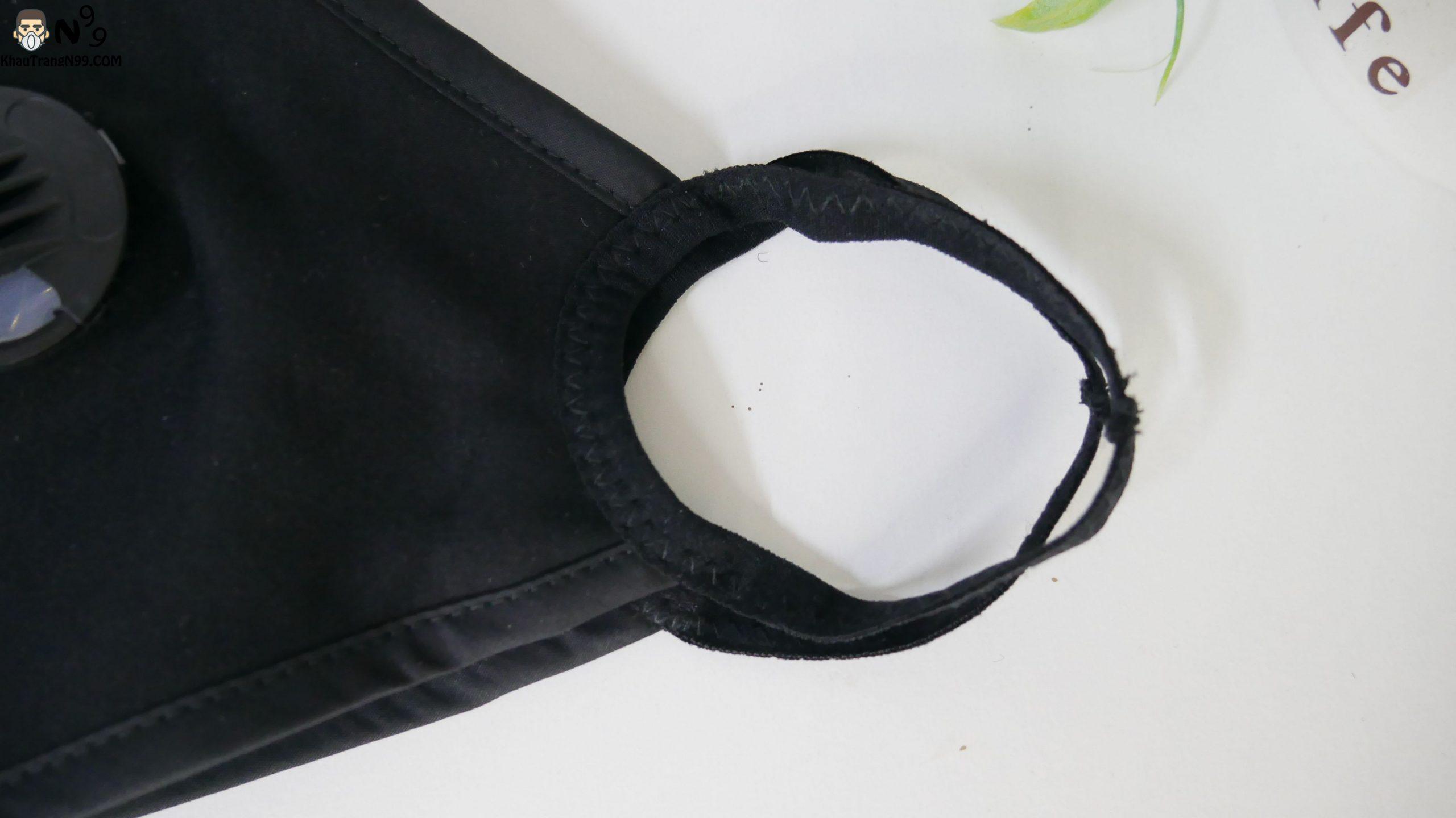 Khẩu trang vải cao cấp 2 van thở - Black (3)