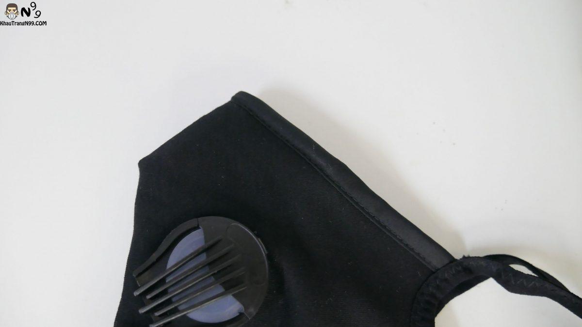 Khẩu trang vải cao cấp 2 van thở - Black (5)