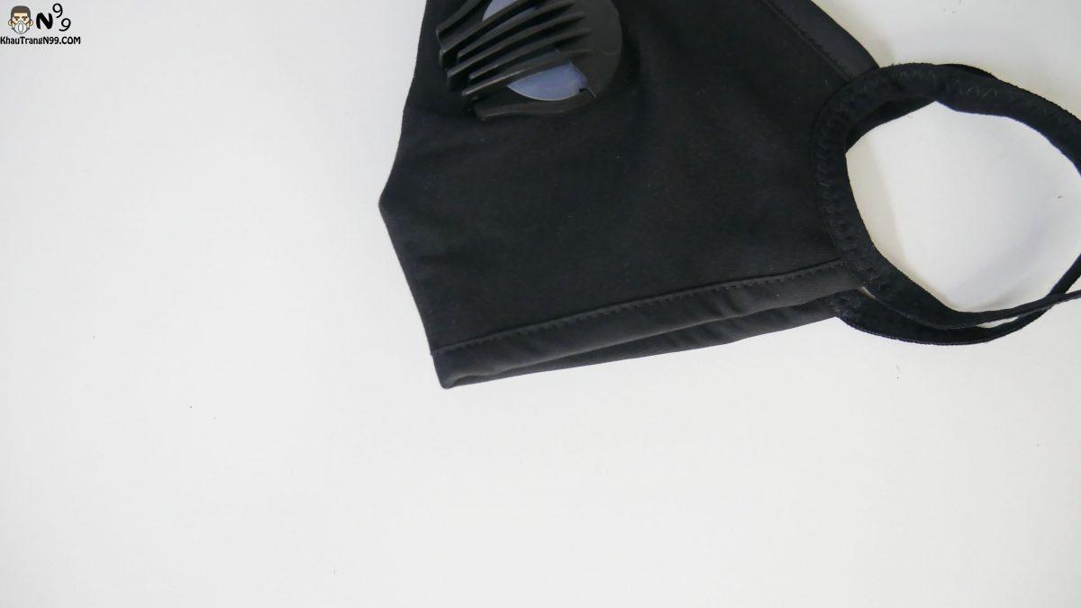 Khẩu trang vải cao cấp 2 van thở - Black (6)