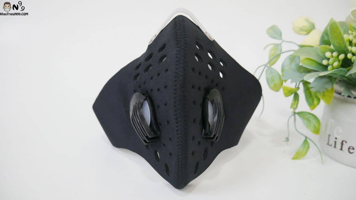 khẩu trang đi phượt deluxe màu đen (6)